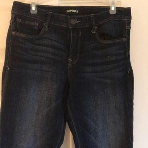 Classic blue skinny stretch jeans